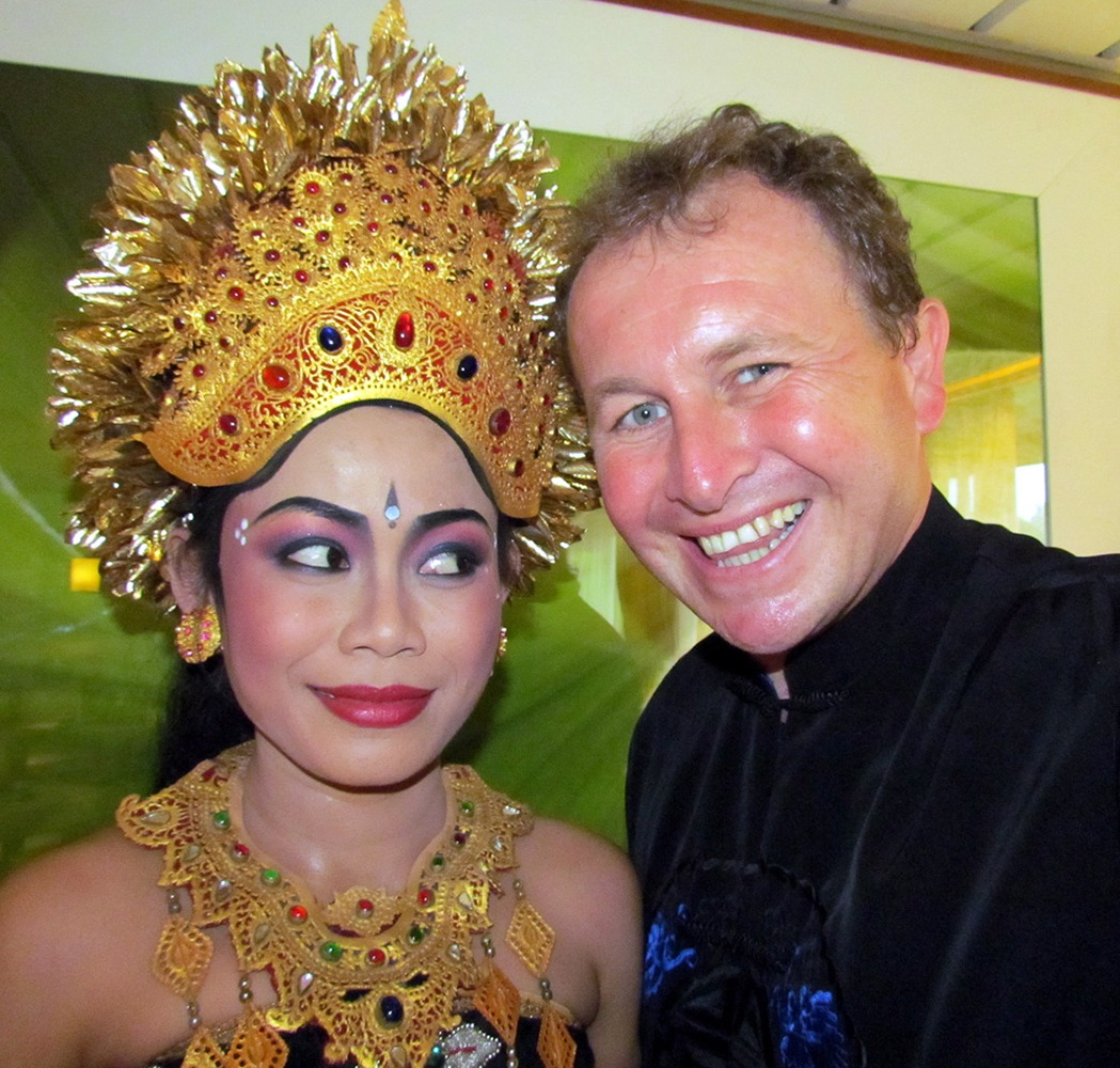 Denpasar, Bali, Indonesia. Me and a bejewelled Balinese beauty