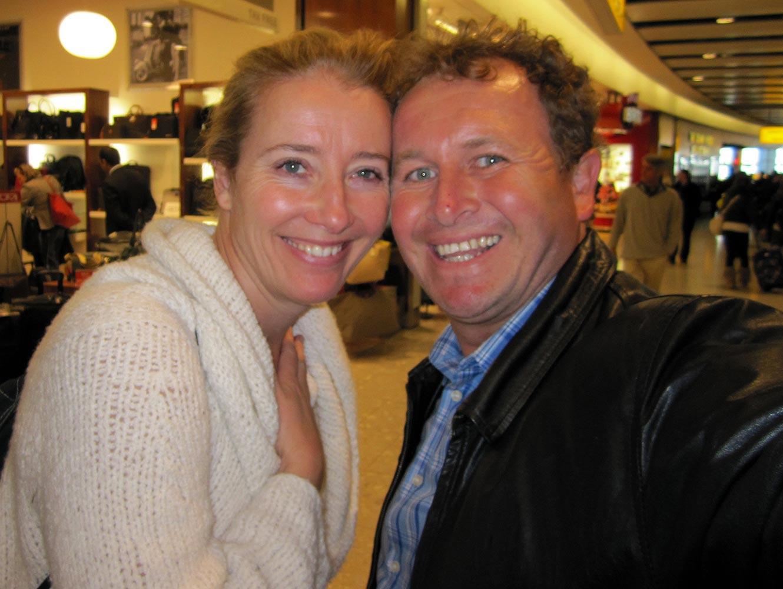 Emma Thompson at Heathrow Terminal 5