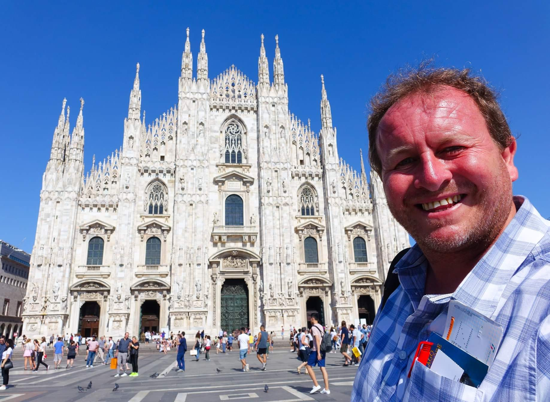 Milan, Italy. Visiting Italy's grandest Gothic cathedral