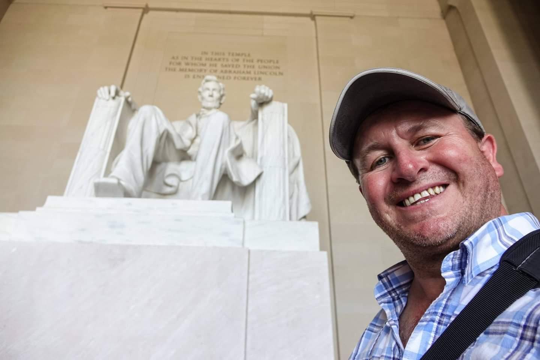 Washington DC, USA. Paying my respects to Abe